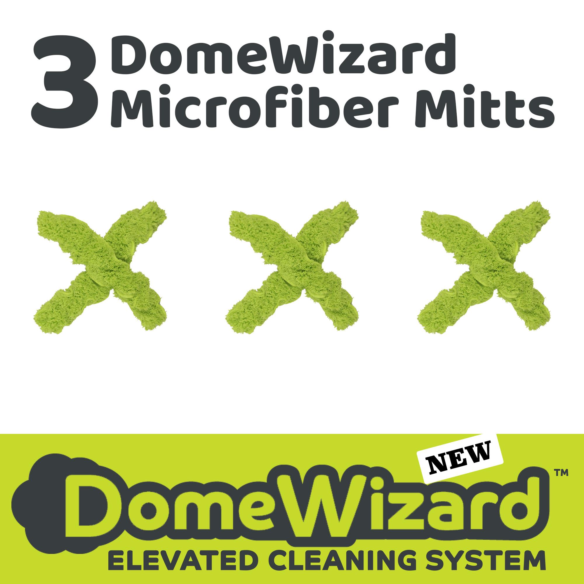3 DomeWizard Microfiber Mitts (DW-3MIT-PRO)