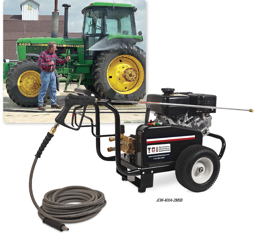 JCW Series Gasoline Belt Drive COLD WATER PRESSURE WASHERS