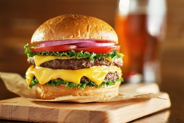 Double Cheese Burger With Drink