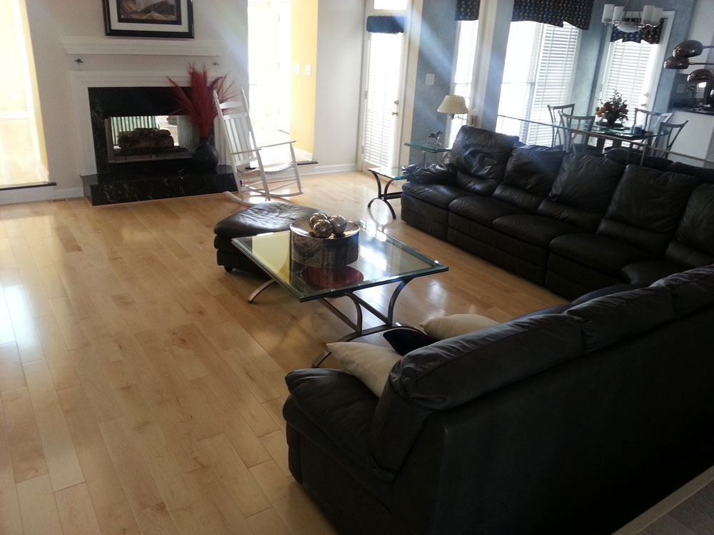Cream Hardwood Flooring
