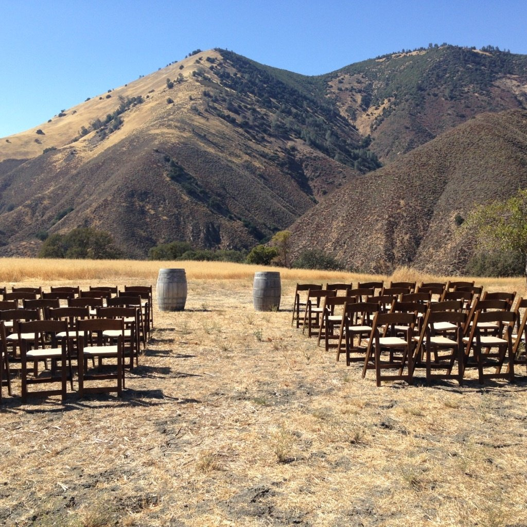Wedding site for Chad and Gina, Figueroa Mountain Farmhouse, Los Olivos