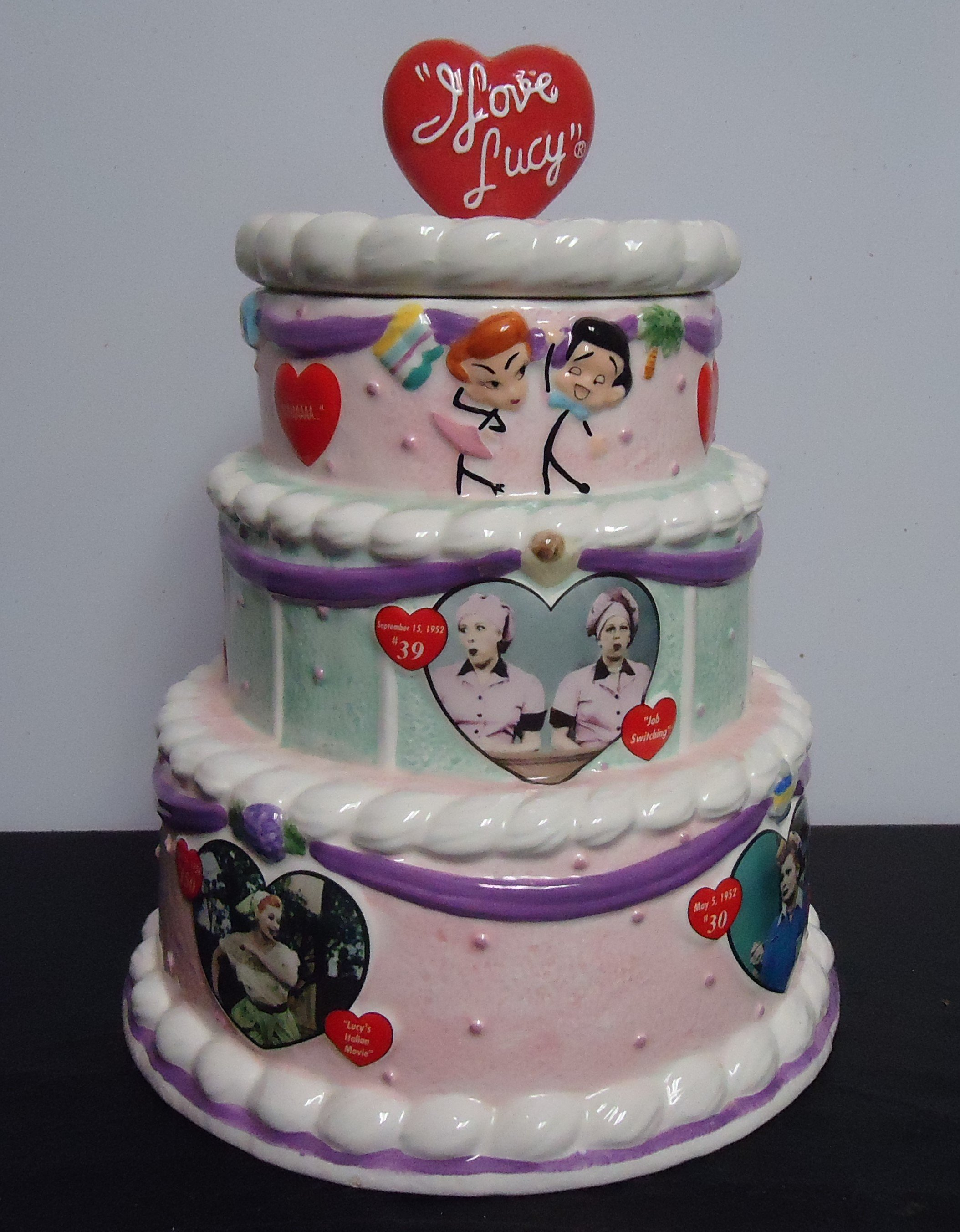 "(4)  ""Limited Edition"" I Love Lucy Cookie Jar $135.00"