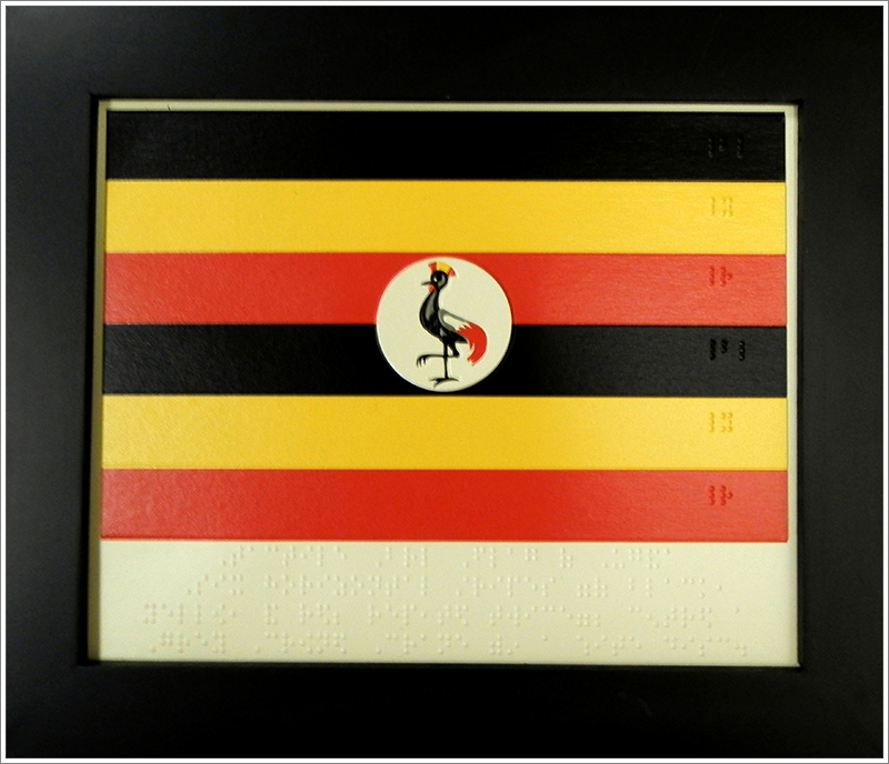 Braille ugandan flag||||Braille flag of Uganda