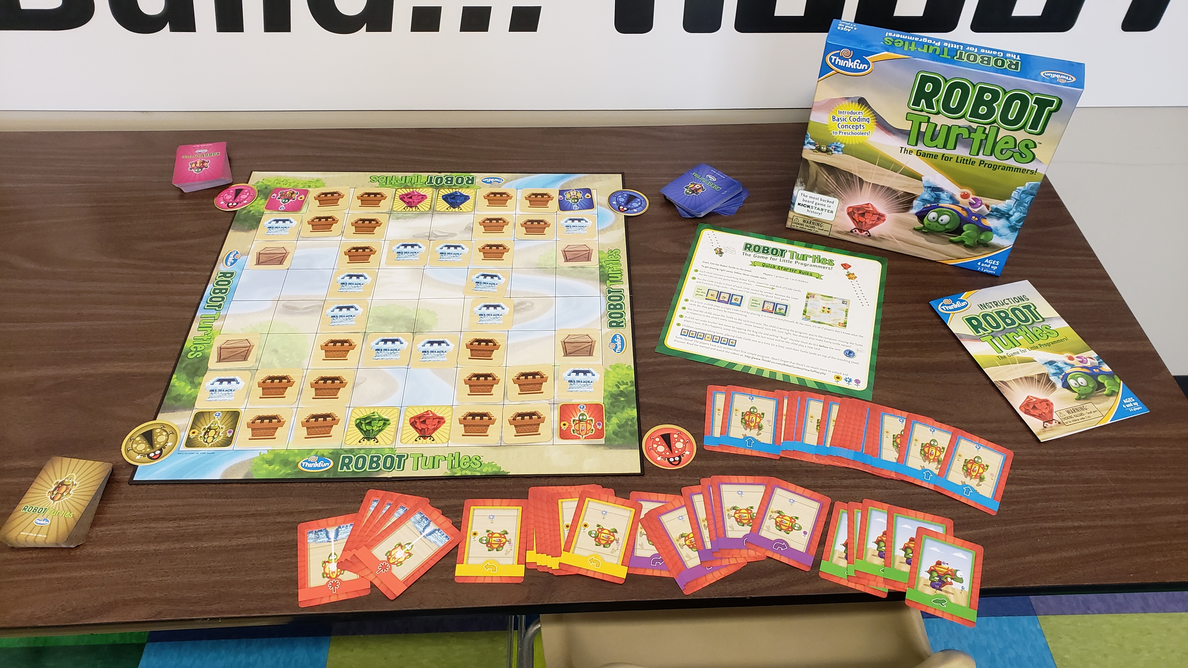 Coding Board Game: Robot Turtles. Ages 4 and up. 2 to 5 players.