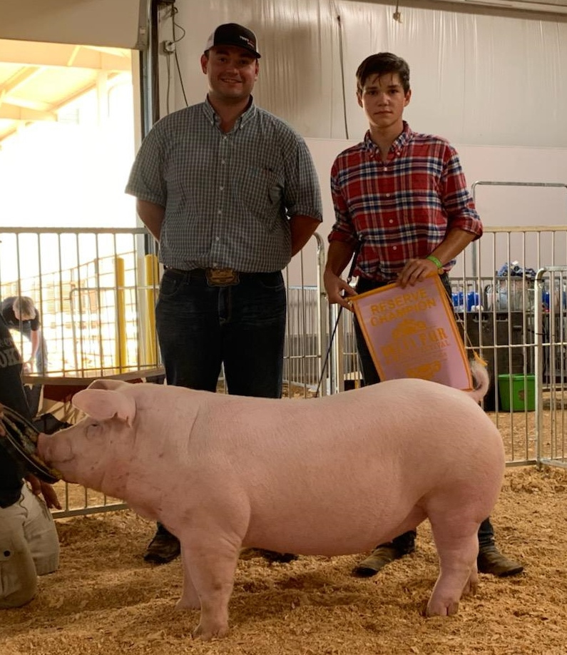 Matt Roach & Gracee Woods 2019 Delta Fair & Music Festival Reserve Champion Chester Gilt  (Day 1)