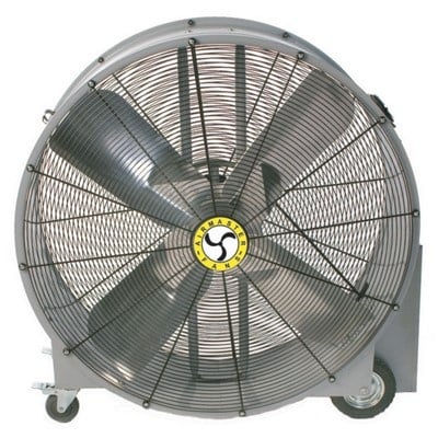 "Barrel Fan 42"" $35/day $105/week"