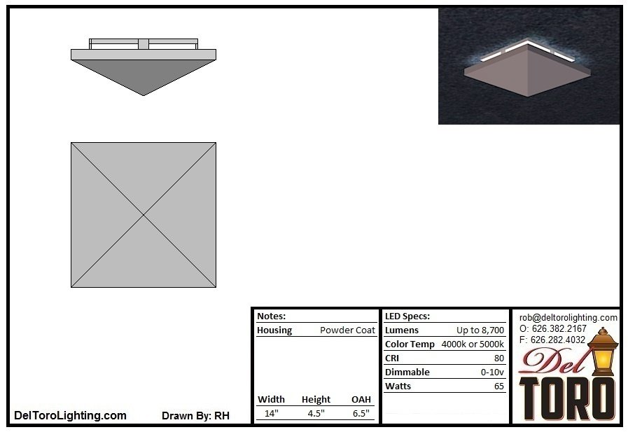 900C-Metal Pyramid Ceiling Mount