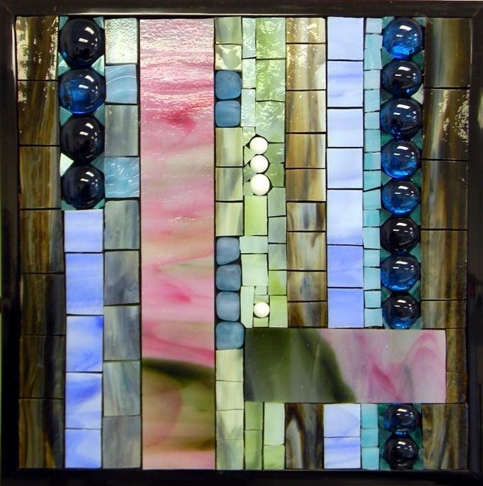 """Abstract 2"" by Nataliya Guchenia Glass Size - 8 3/8""H X 8 3/8""W $175.00"