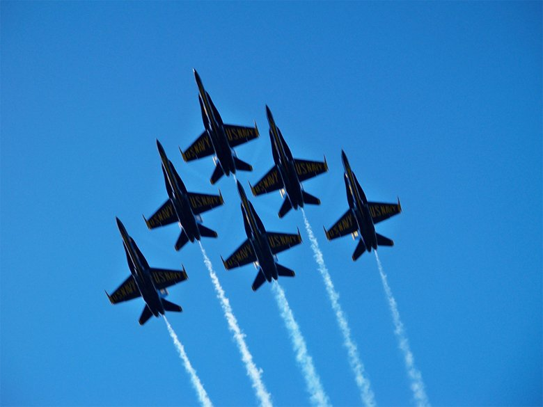 Blue Angels Flying Overhead