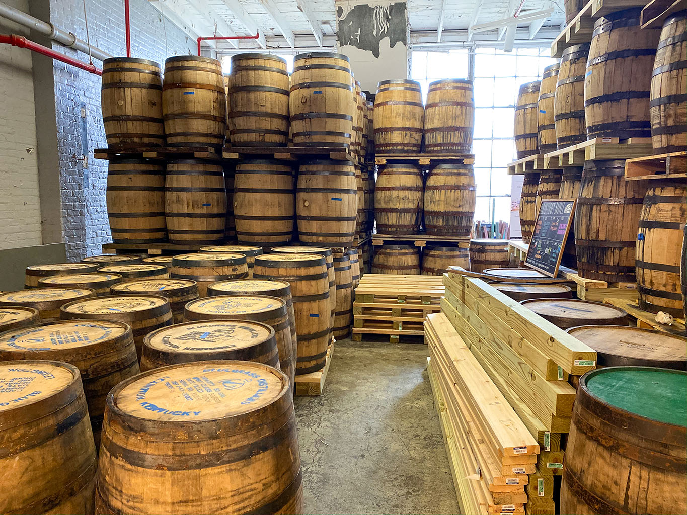 Barrel Room -Bluegrass Distillers