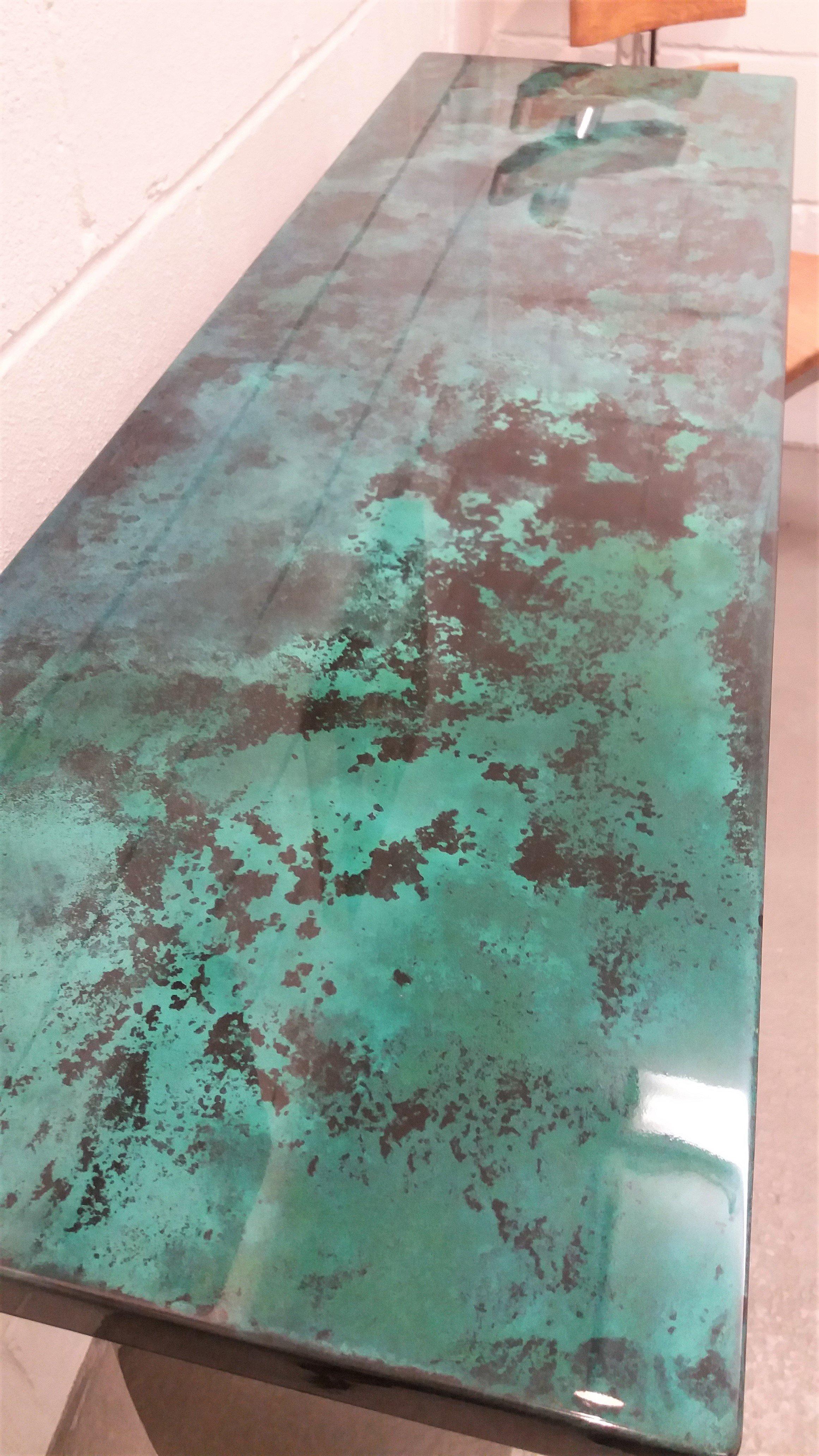 Custom paint finishes on furniture, bathroom panels. Artistic Metals, Uckfield.