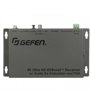 4K Ultra HD HDBaseT Receiver w/ Audio De-Embedder and POH