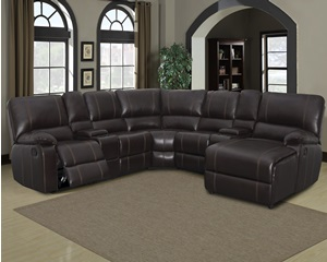 8135 Kelton Brown Includes: Laf, Console x2,  Armless Chair, Armless Recliner, Raf Cahise