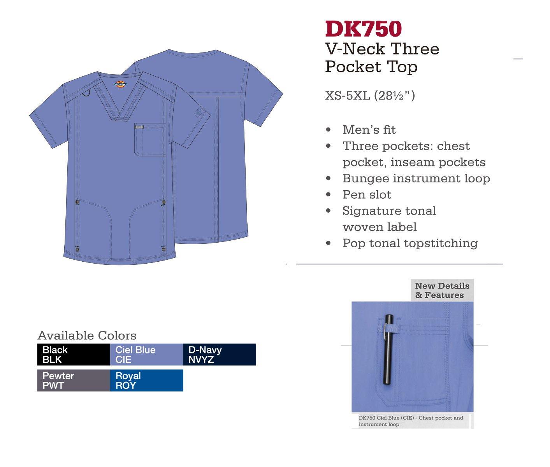 Cuello en V con 3 Bolsillos. DK750.
