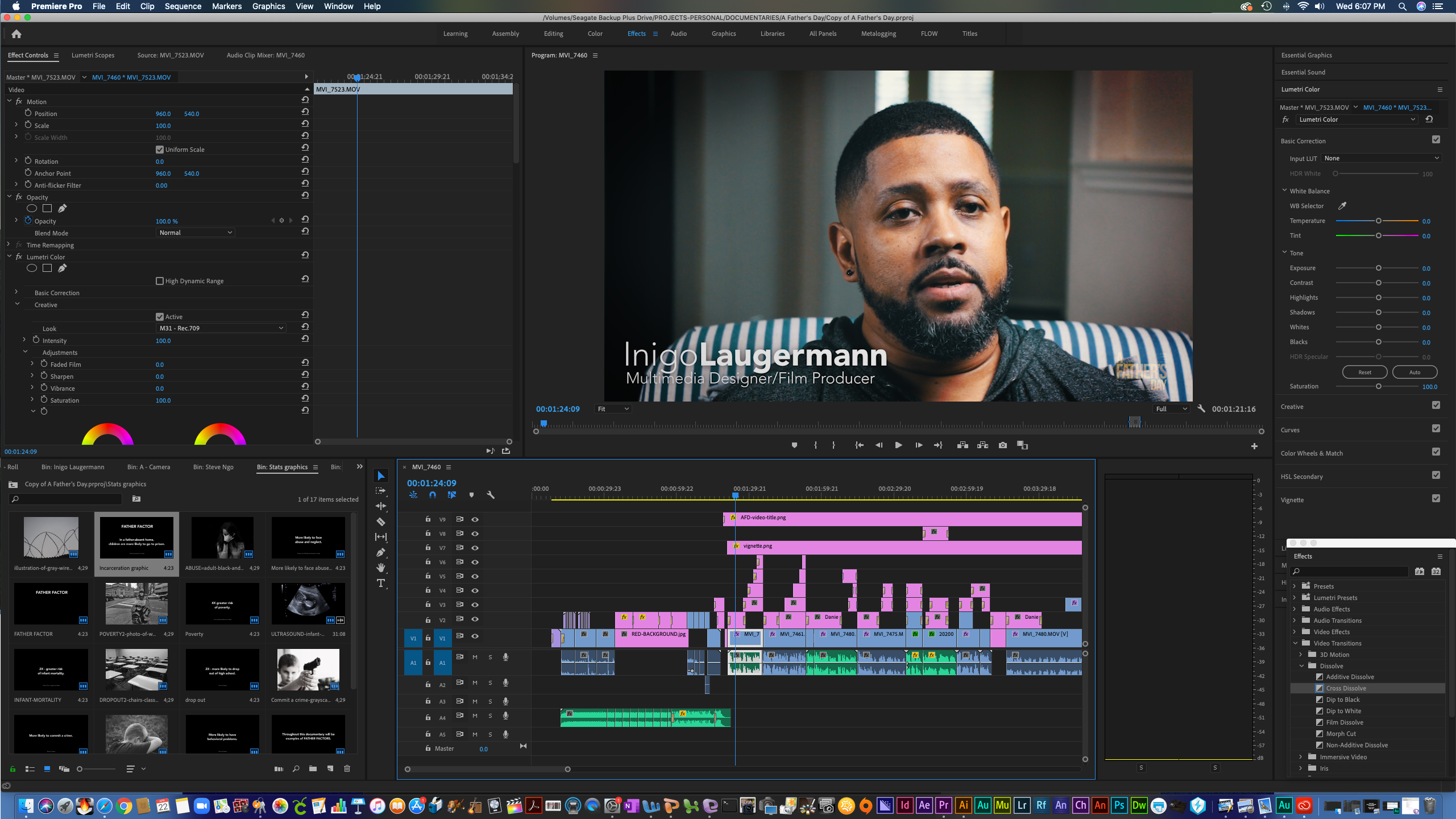 "BTS: Editing Suite - ""A Father's Day"" documentary"