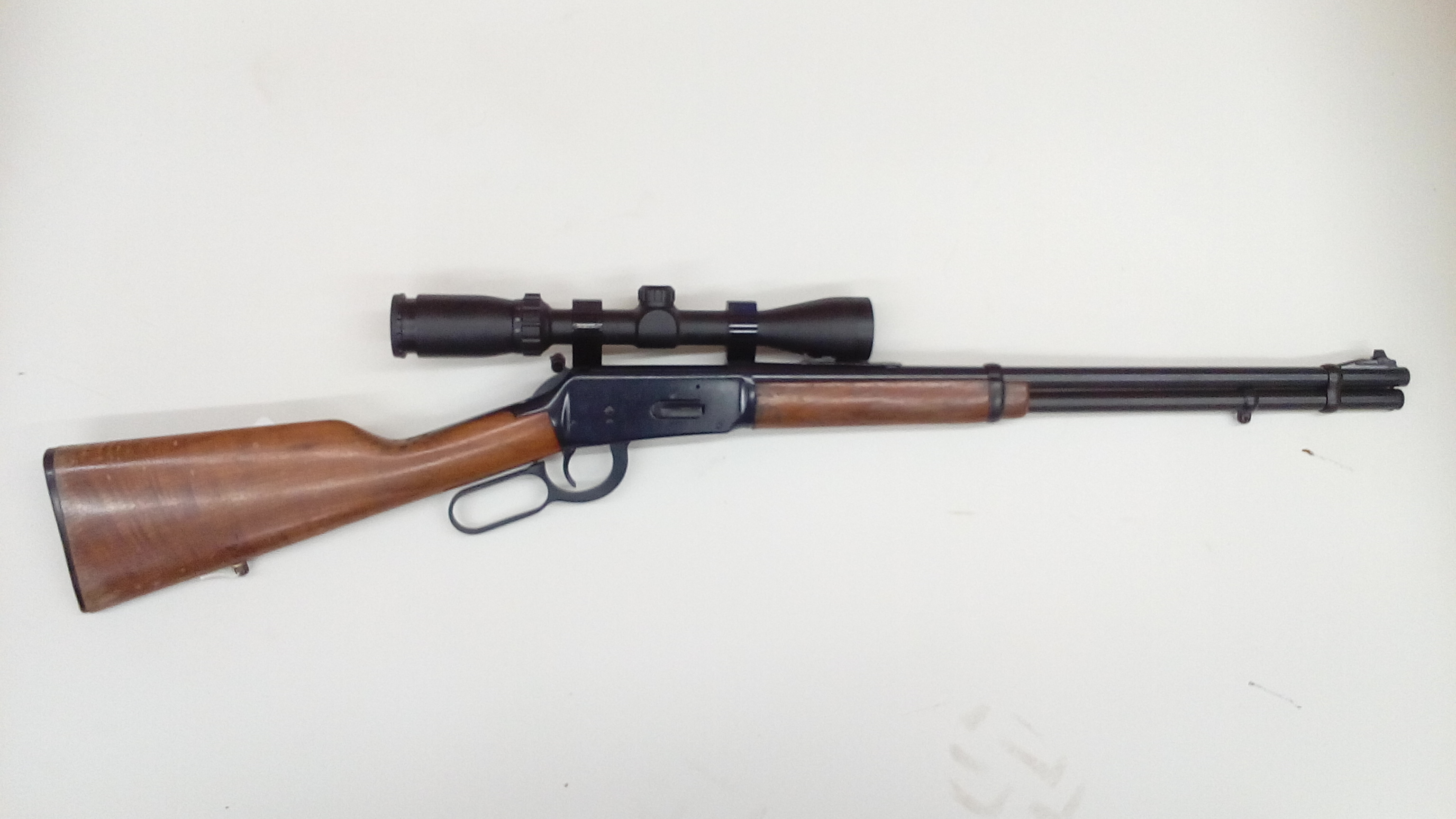Winchester model 94 cerakoted with graphite black, this gun was also in a fire.