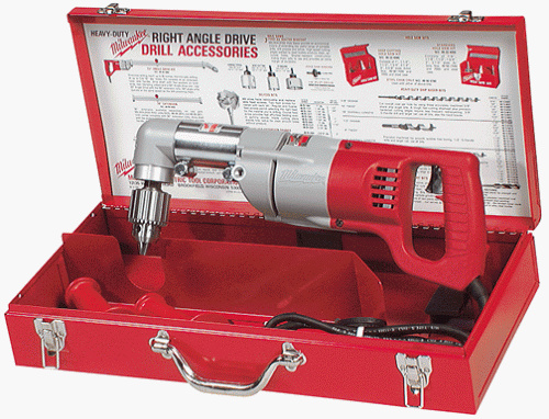 Milwaukee Right Angle Drill $15/half $25/day