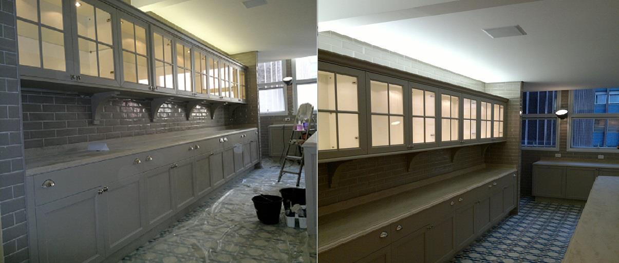 Antes e Depois - Cozinha Apartamento da Modelo Carol Trentini