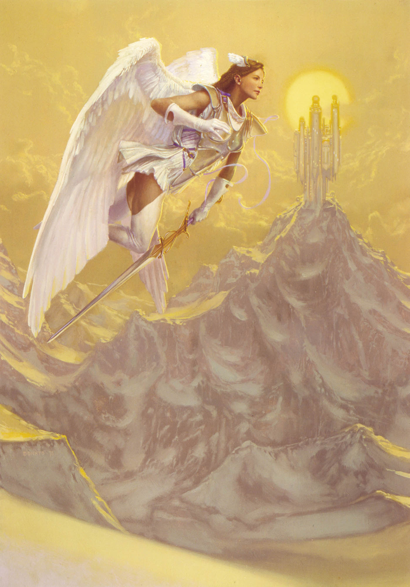 "Archangel Japanese Promotional Card 24"" x 16""  Oil on Panel private collection prints available in the store"
