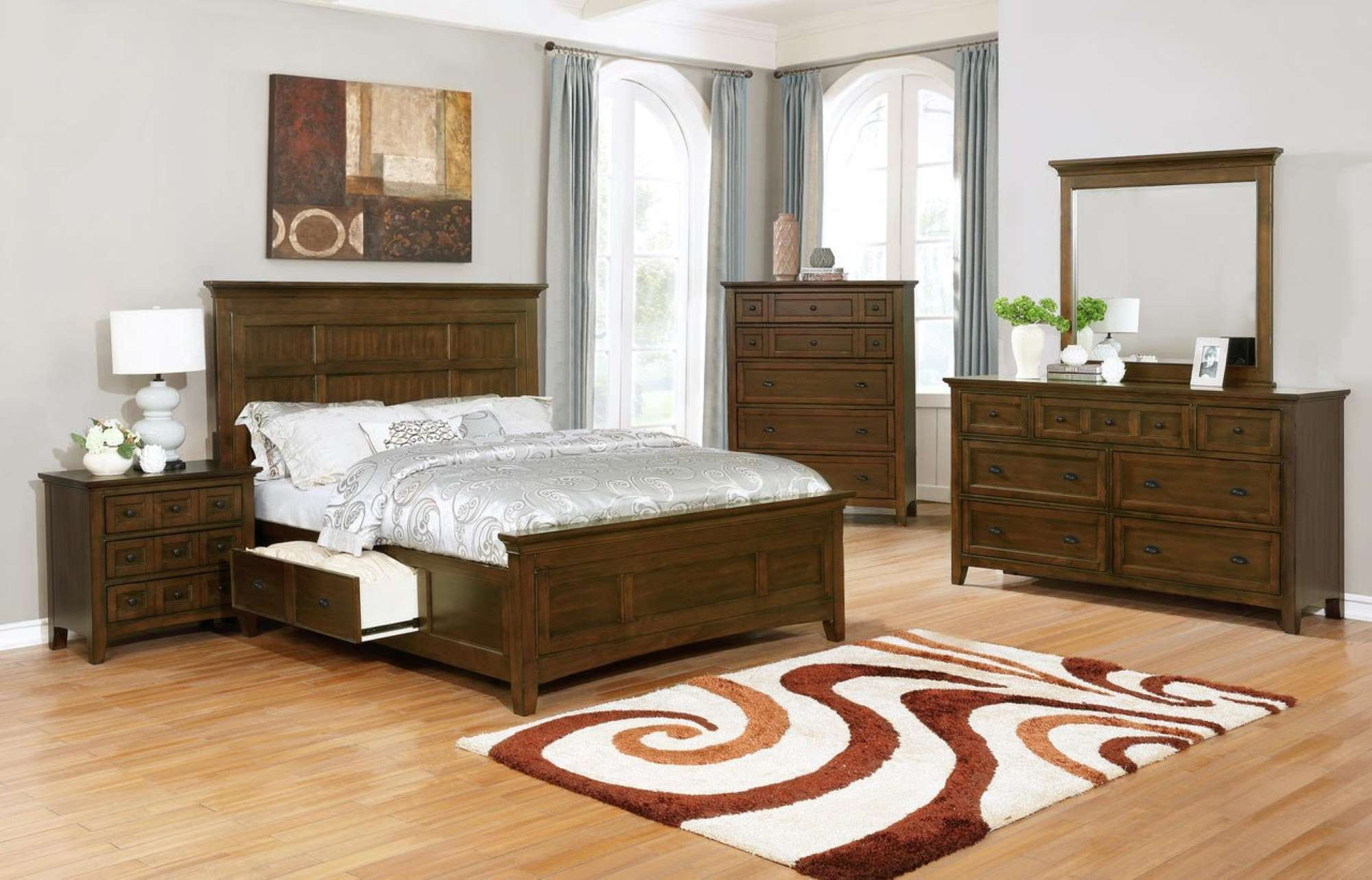 BR020 Ethan Brown Bedroom Set