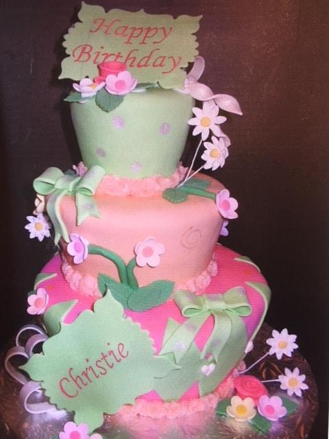 Custom Floral Cake