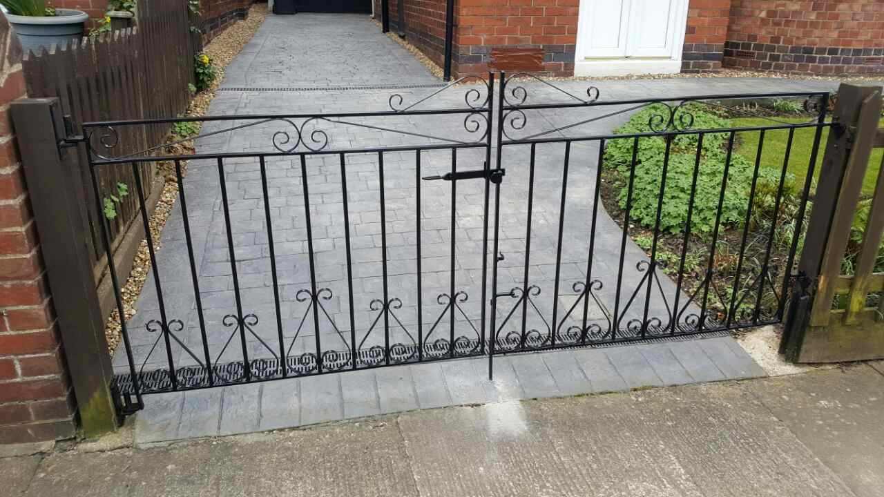 Traditional drive gates carefully restored to their original condition