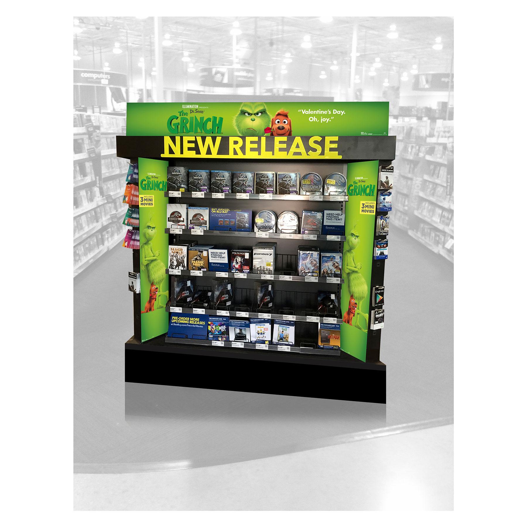 Grinch Best Buy New Release Display
