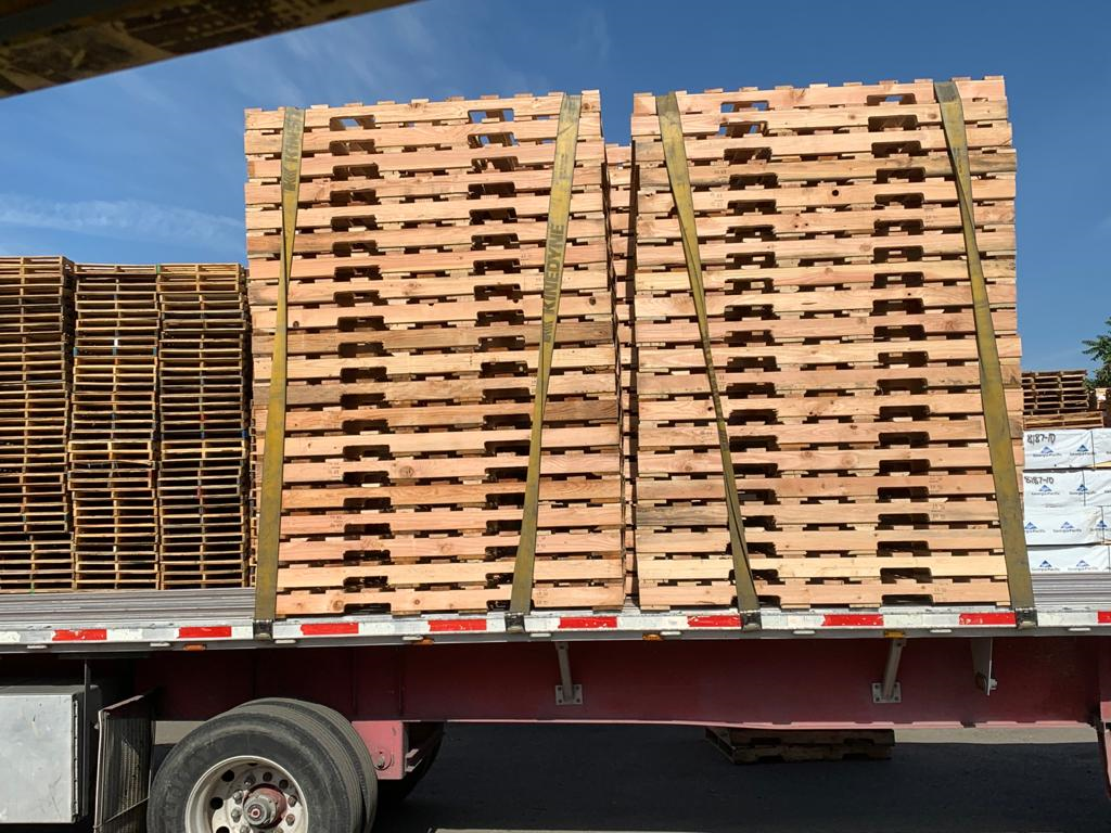 Pallets Loaded on a Flatbed||||