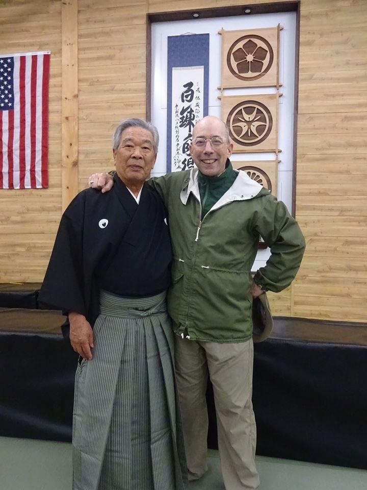 Sato Seiji Sensei and Power Sensei - old friends reunited after a long absence.