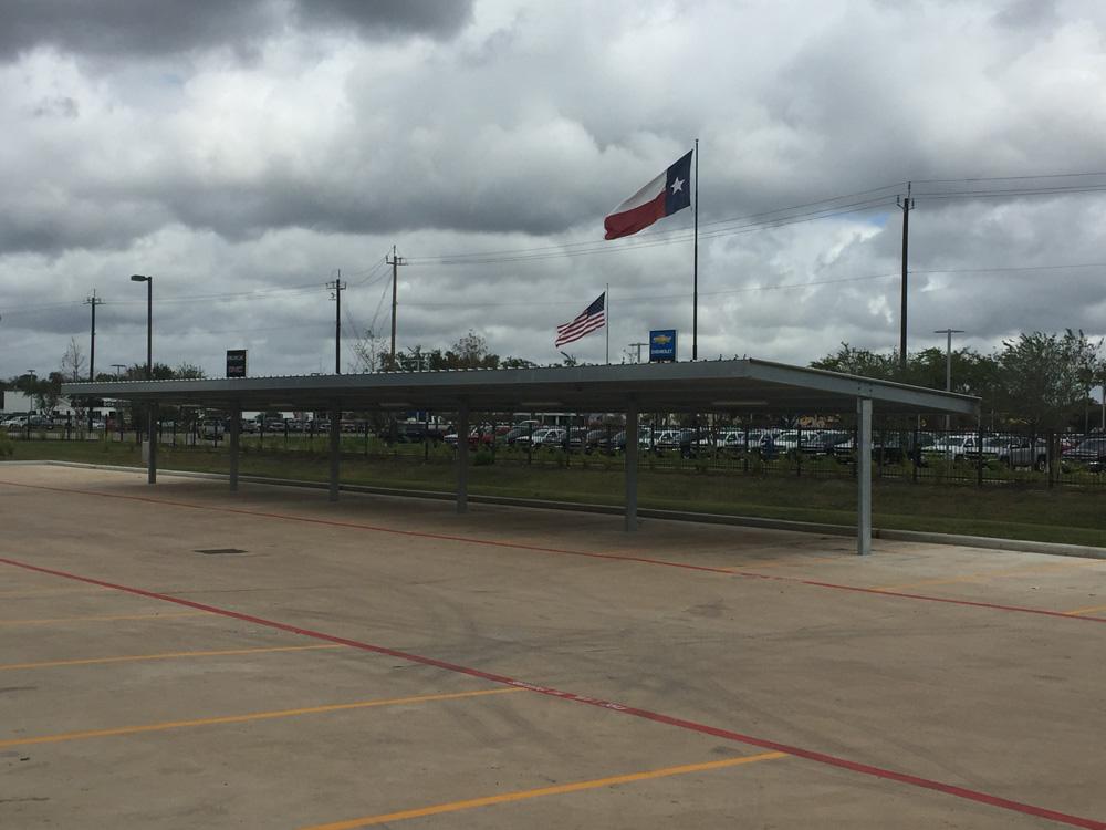 Slanted Single Post Carport