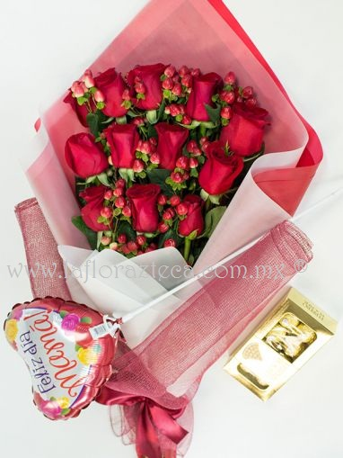 San Valentin 030 /12rosas $ 690.00 pesos