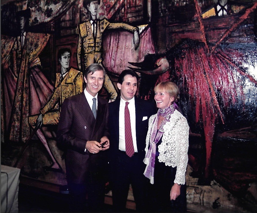 Phillip David ( assistant director of Galerie Maurice Garnier & my mentor) Robert Rienzo & Madame David) February 1988