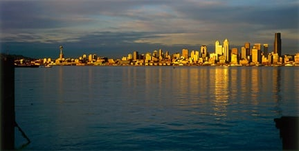 Seattle skyline and Puget Sound
