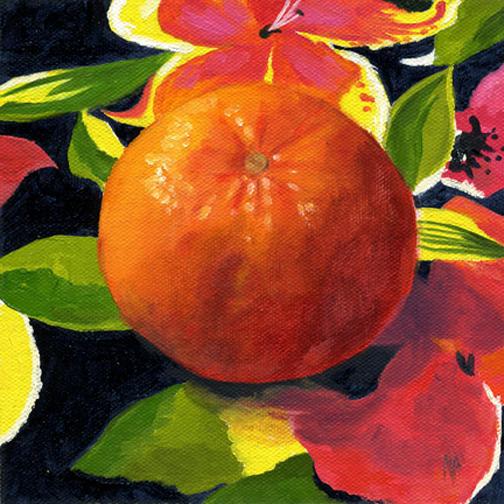 "Orange ~ 6""x6""    Oil on Canvas Panel  SOLD"