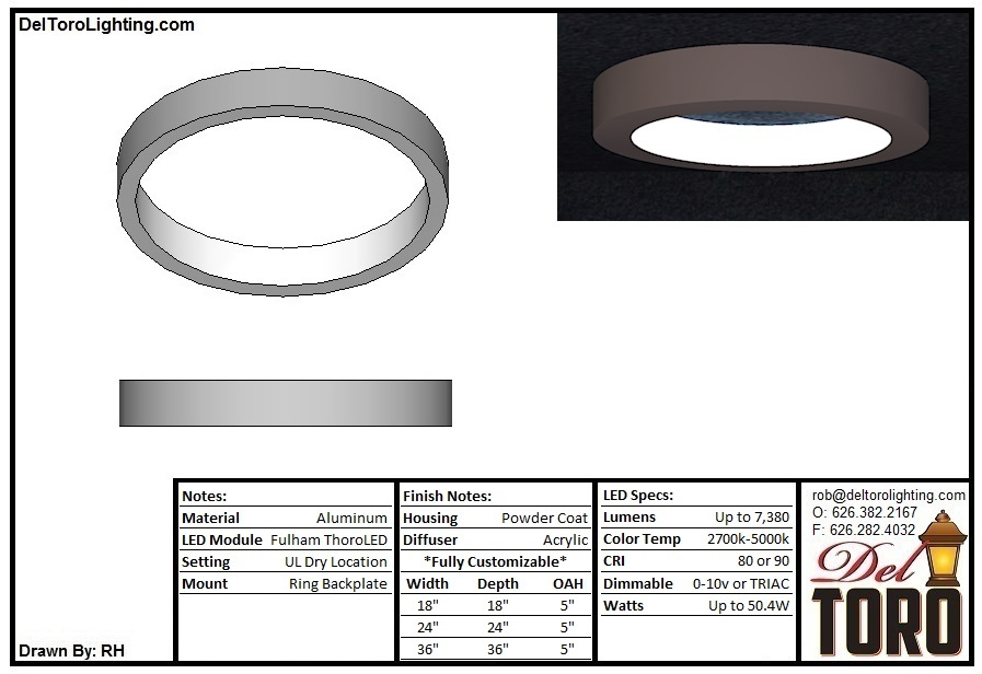 000C-Ring Blade Ceiling Mount