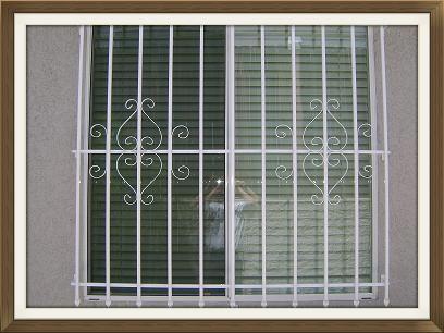 Standard Window Guard Design in White
