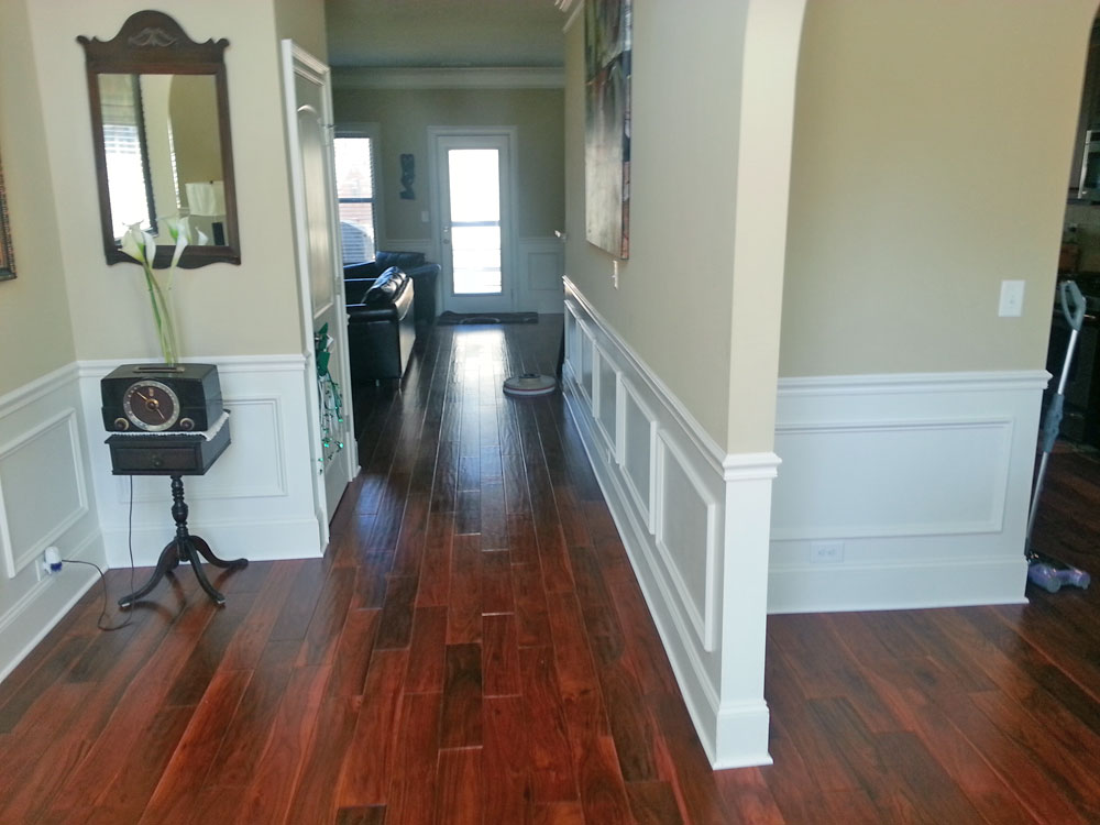 Polished Hardwood Flooring