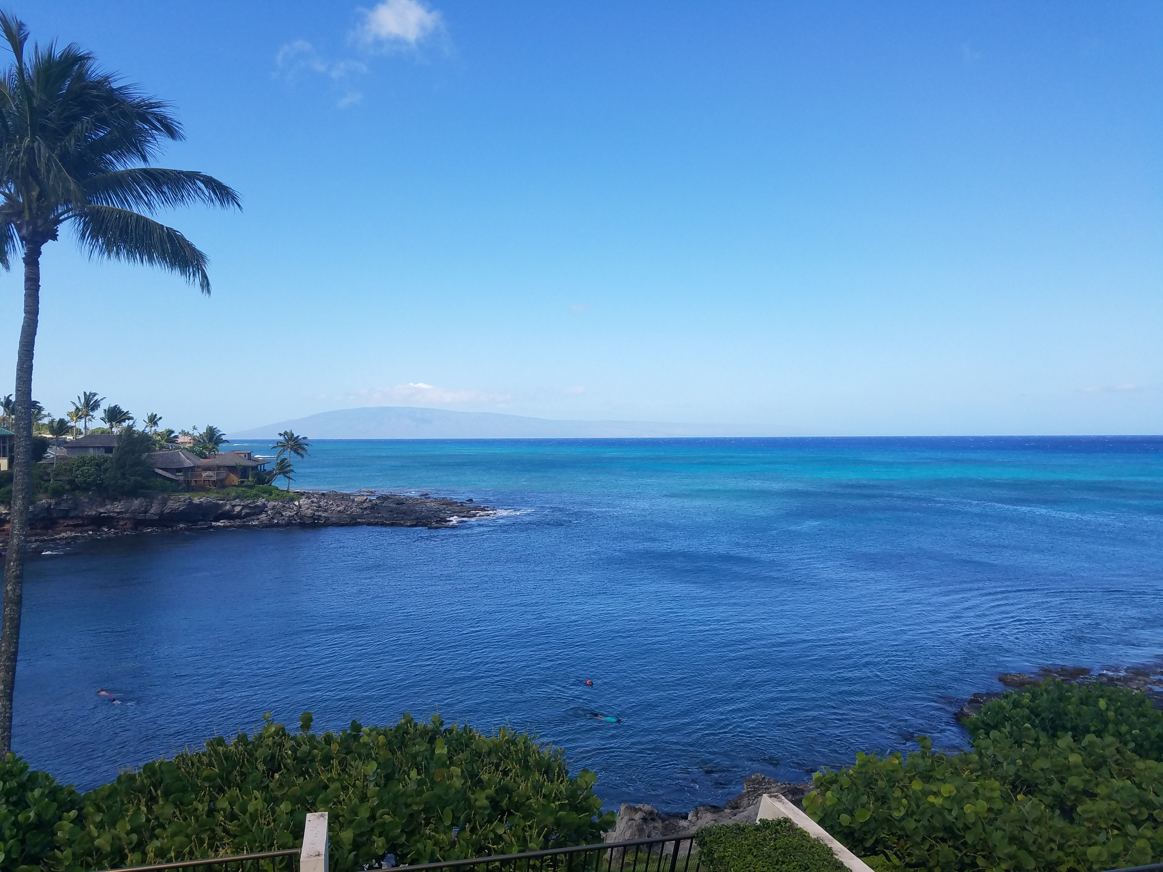 Amazing view of the ocean and Lanai island