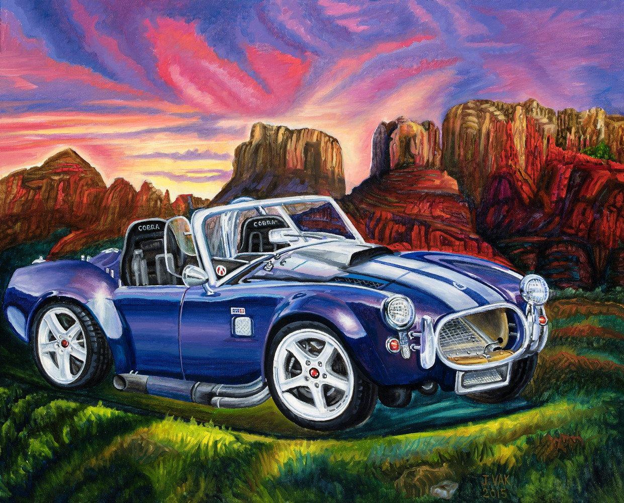 1966 Cobra 24 X 30 Original Oil        $2500         2015