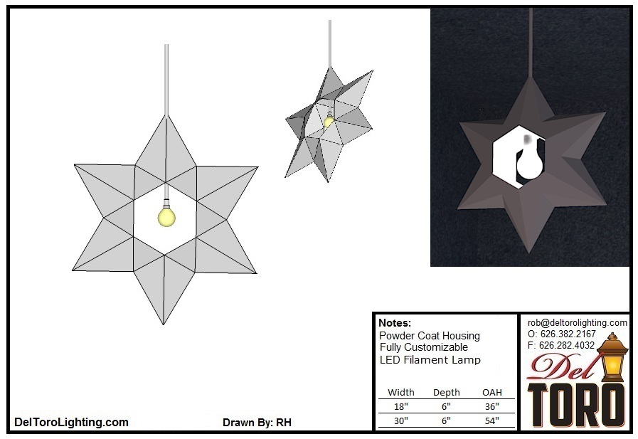 208P-Star 6 Point Pendant