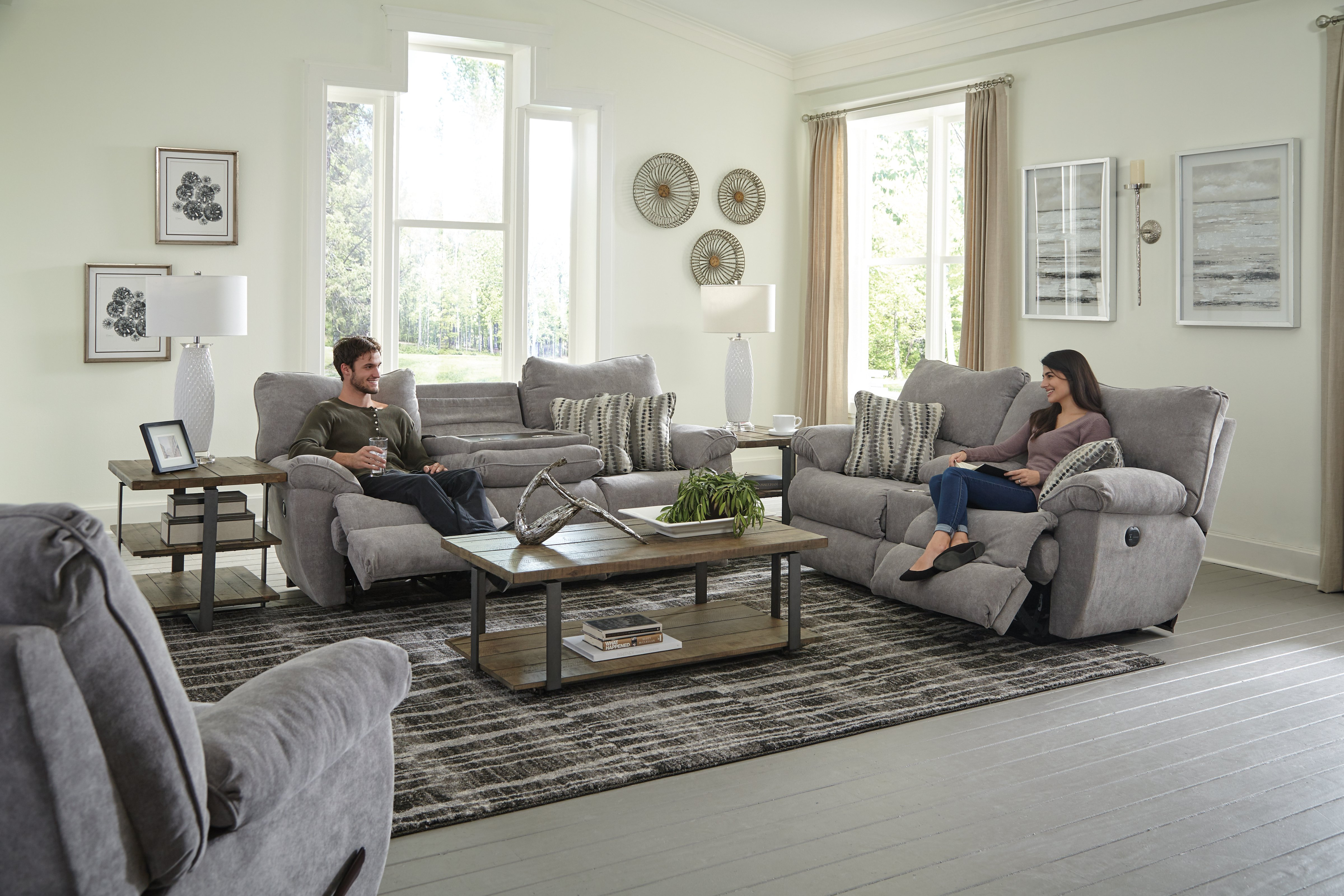 Sadler Mica Reclining Sofa and Loveseat 2415 by Catnapper