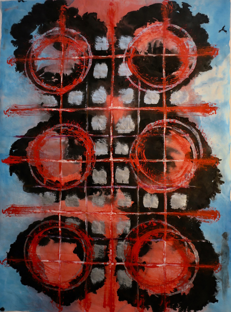 burning circles 26 x 32