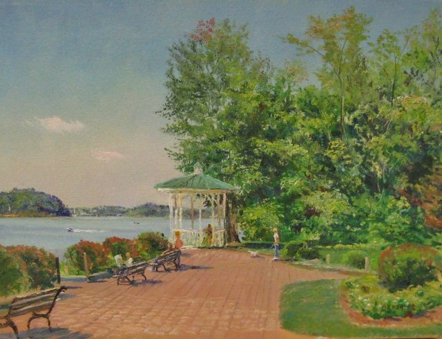 15. Sunday, Quiet Waters Park, Annapolis, 9x12, oil on canvas