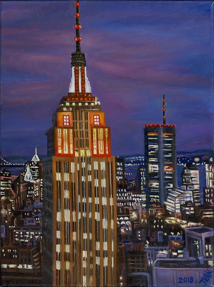 Empire State Building 16x12 Original Oil $2500 2013