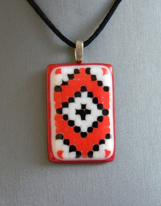 """Embroidery_02"" by Nataliya Guchenia Size - 1-3/4""H X 1-1/4""W $35.00"