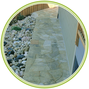Flagstone Walk Way Installation