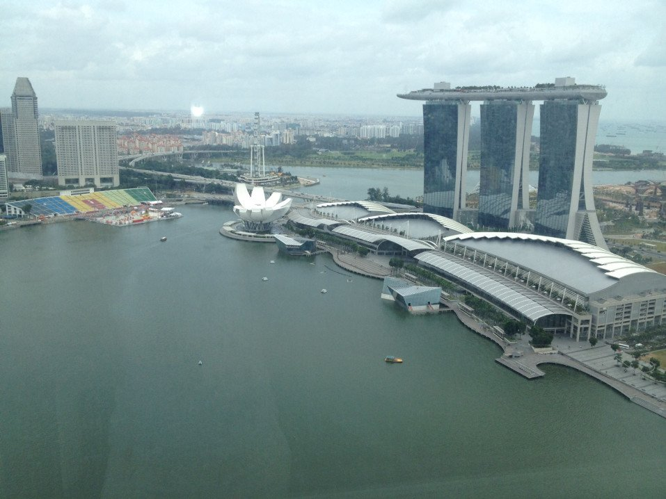View of Marina Bay from one of our high floor serviced apartments
