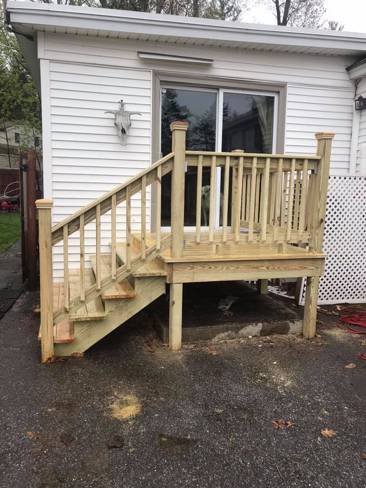 Outdoor Wooden Steps