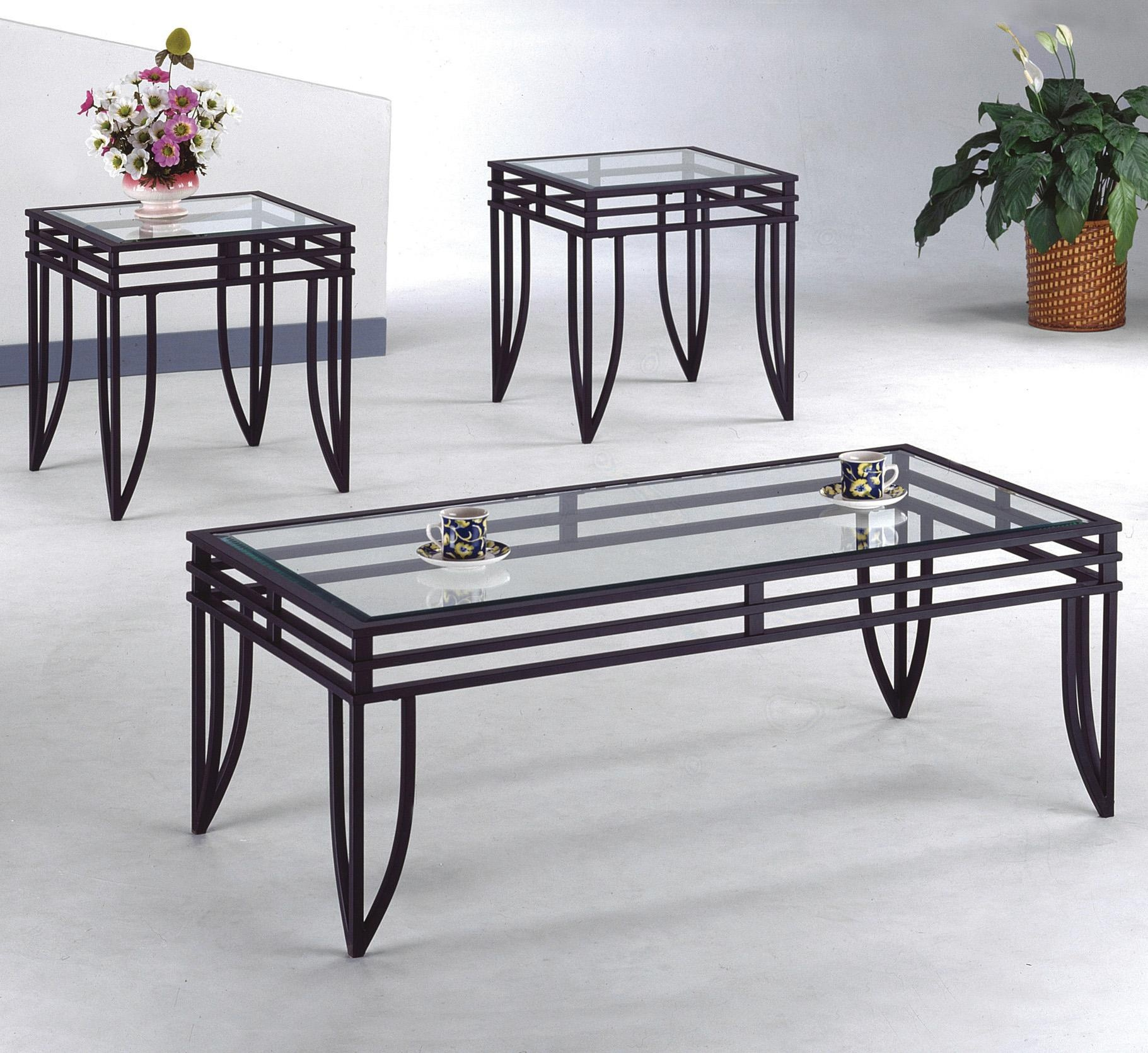 Matrix C M 3702 3 Piece Table Set Coffee And 2 End Tables