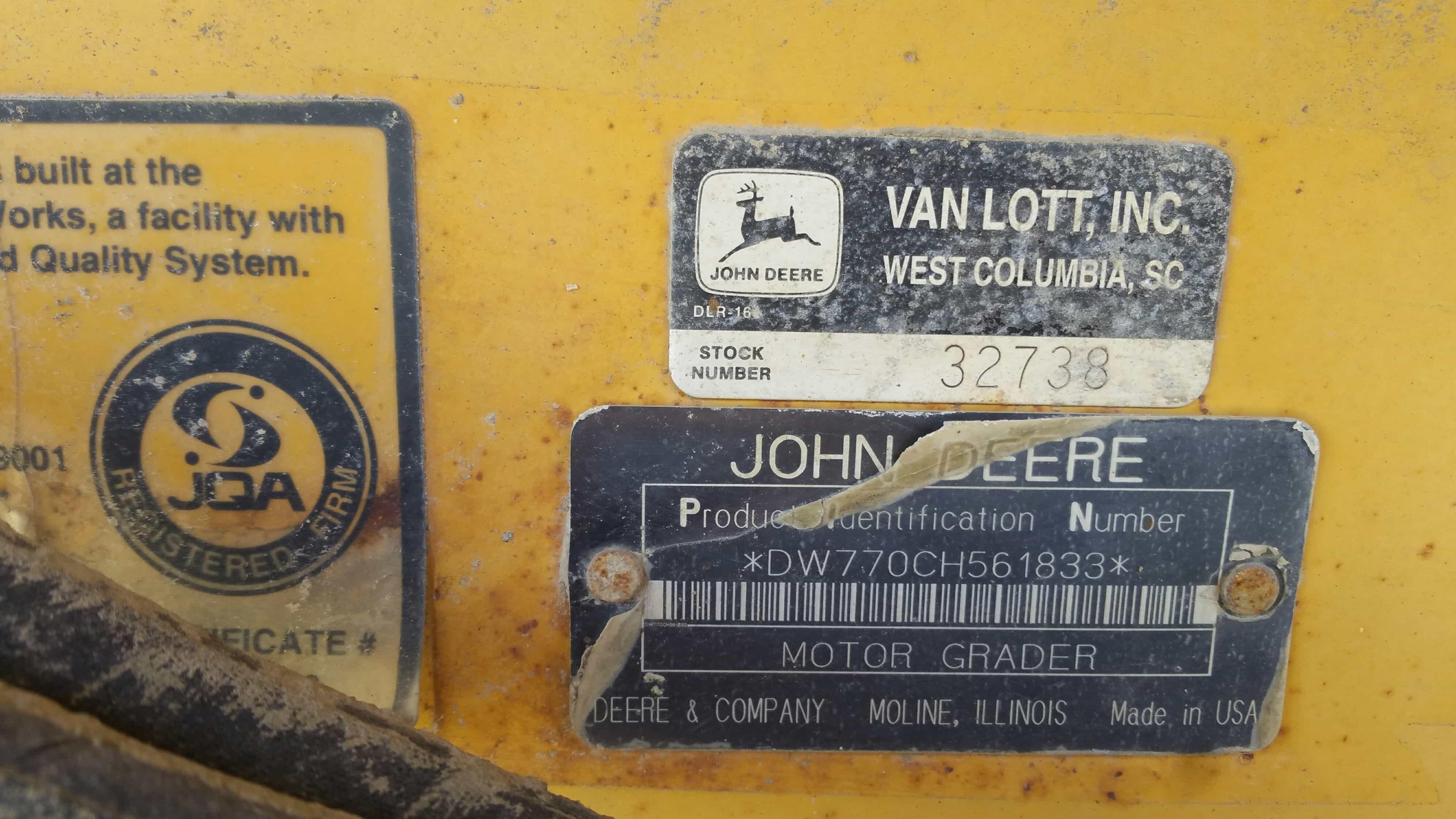 John Deere 770CH 4